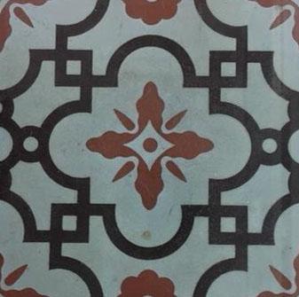 A Godwin tile made in Lugwardine, Herefordshire