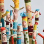 Half Term project to make lsitening stickk at Hereford museum and art gallery and library