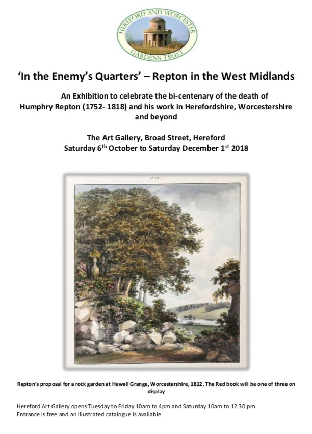 New exhibition at Hereford Museum and Art Gallery featuring the work of Humphrey Repton