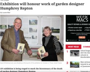 Photo showing curators of Humphrey Repton exhibition